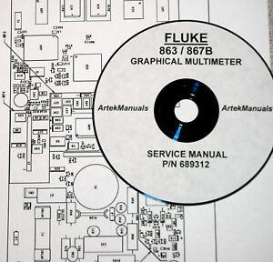 fluke service manual for 863 867b graphical multimeter full size rh ebay com fluke 867b service manual fluke 867b user manual