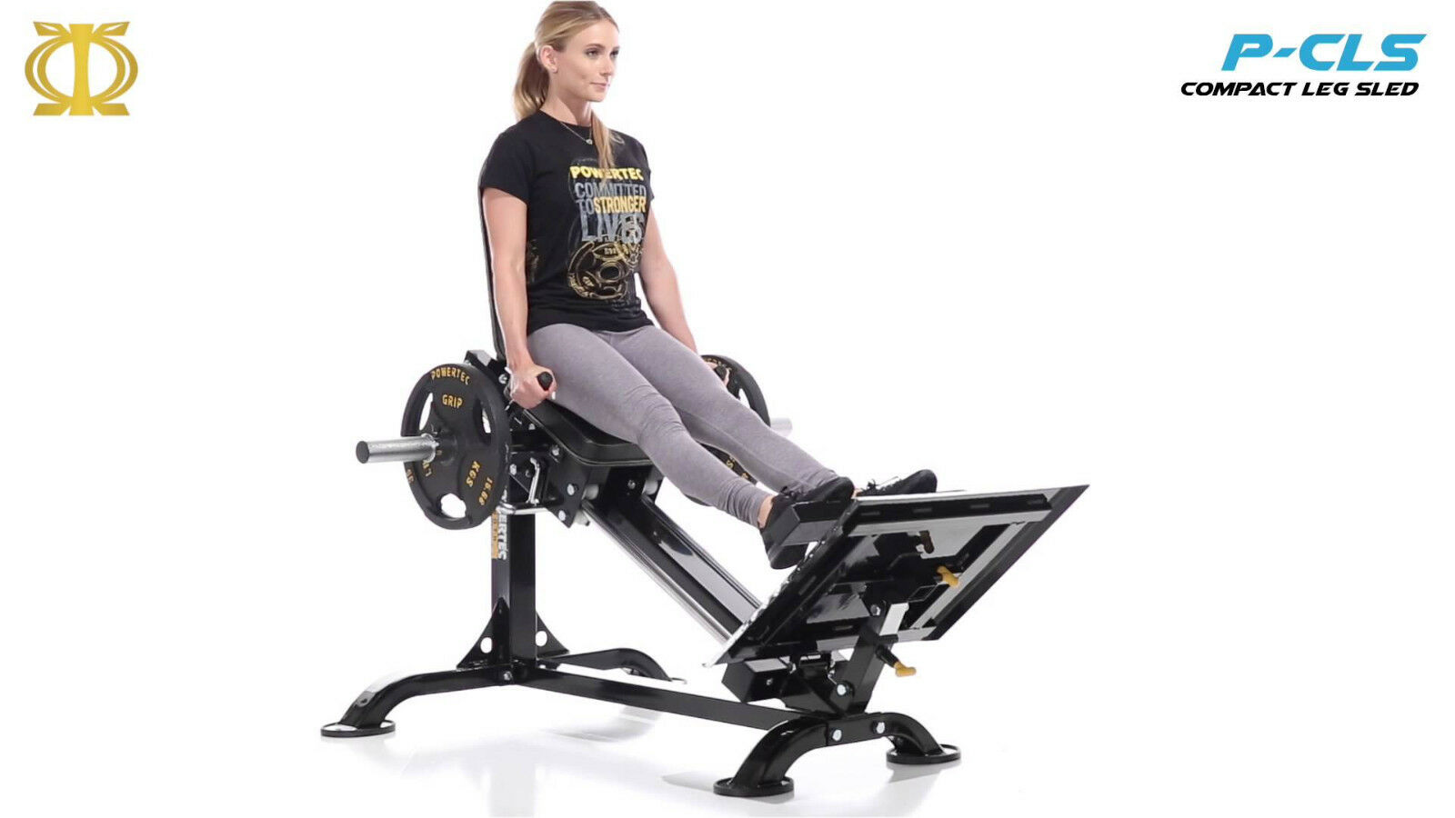 Powertec CLS-16 Compact Leg Sled (weights sold separately)