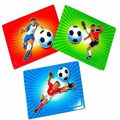 6 x Mini Football Jigsaw Puzzles - Children's Activities / Party Bag Filler Toys