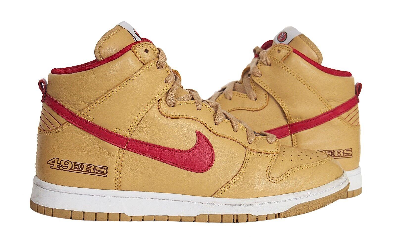 Nike id 49 schiacciare alto san francisco 49 id ers cuoio marrone rosso misura 10,5 fcf2bc