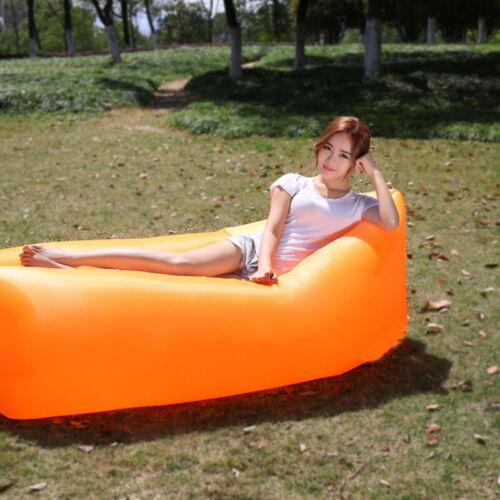 Inflatable Lazy Sofa Beach Camping Sleeping Air Sofa Outdoor Portable Folding UK