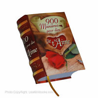 900 Manieres Por Dire Je T'aime Miniature Book In French Reads Perfect Hardbound