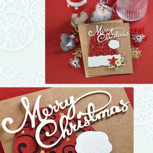 Merry Christmas Letter Metal Cutting Dies Cut Die Mold Scrapbook Card A9W6