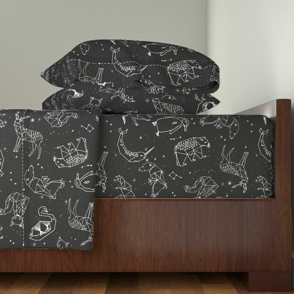 Constellations Constellations 100% Cotton Sateen Sheet Set by Roostery