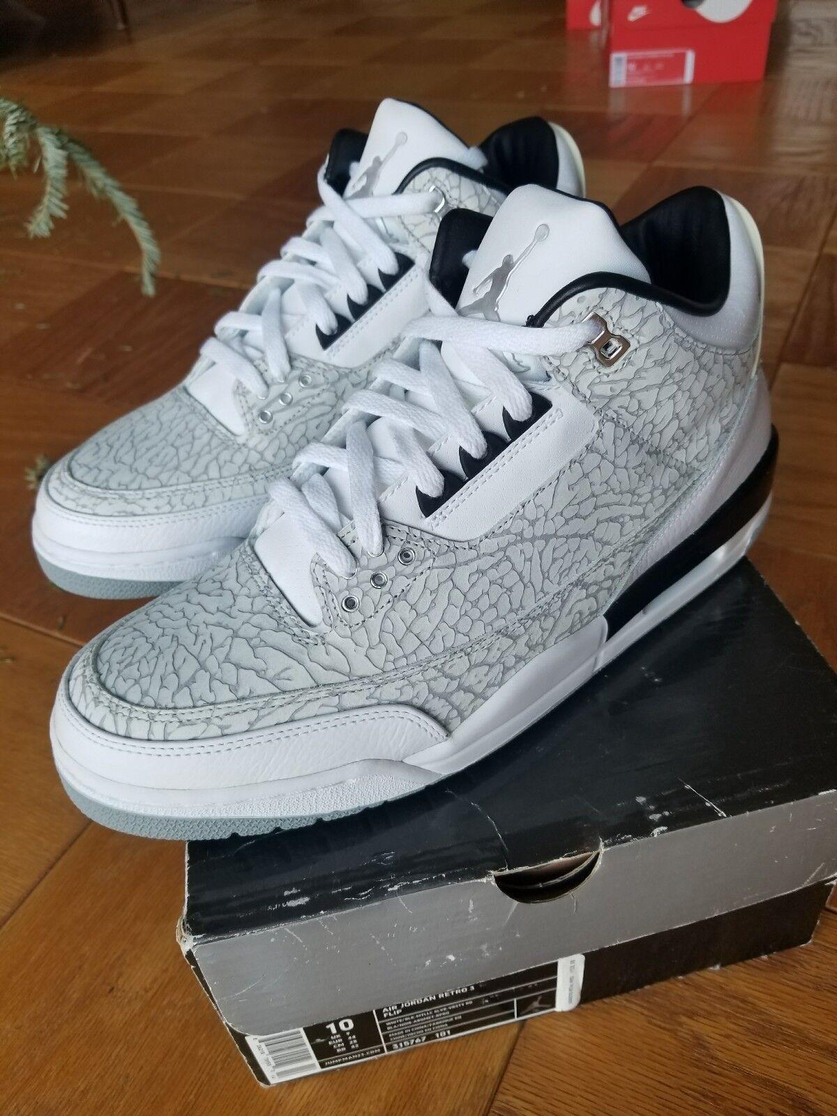 Air Jordan Retro 3 FLIP OG Cement 315767 101 Size 10