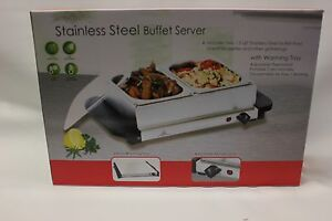 Stainless Steel 2 Section Buffet Server 200 Watts 102252 2