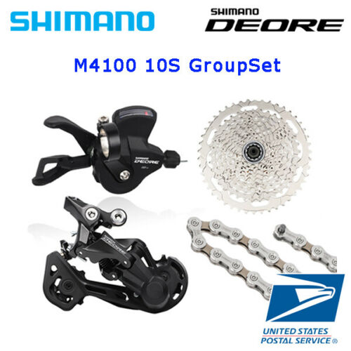 Shimano M4100 4pcs groupset Rear Derailleur Chain 4Cassette Right Shifter