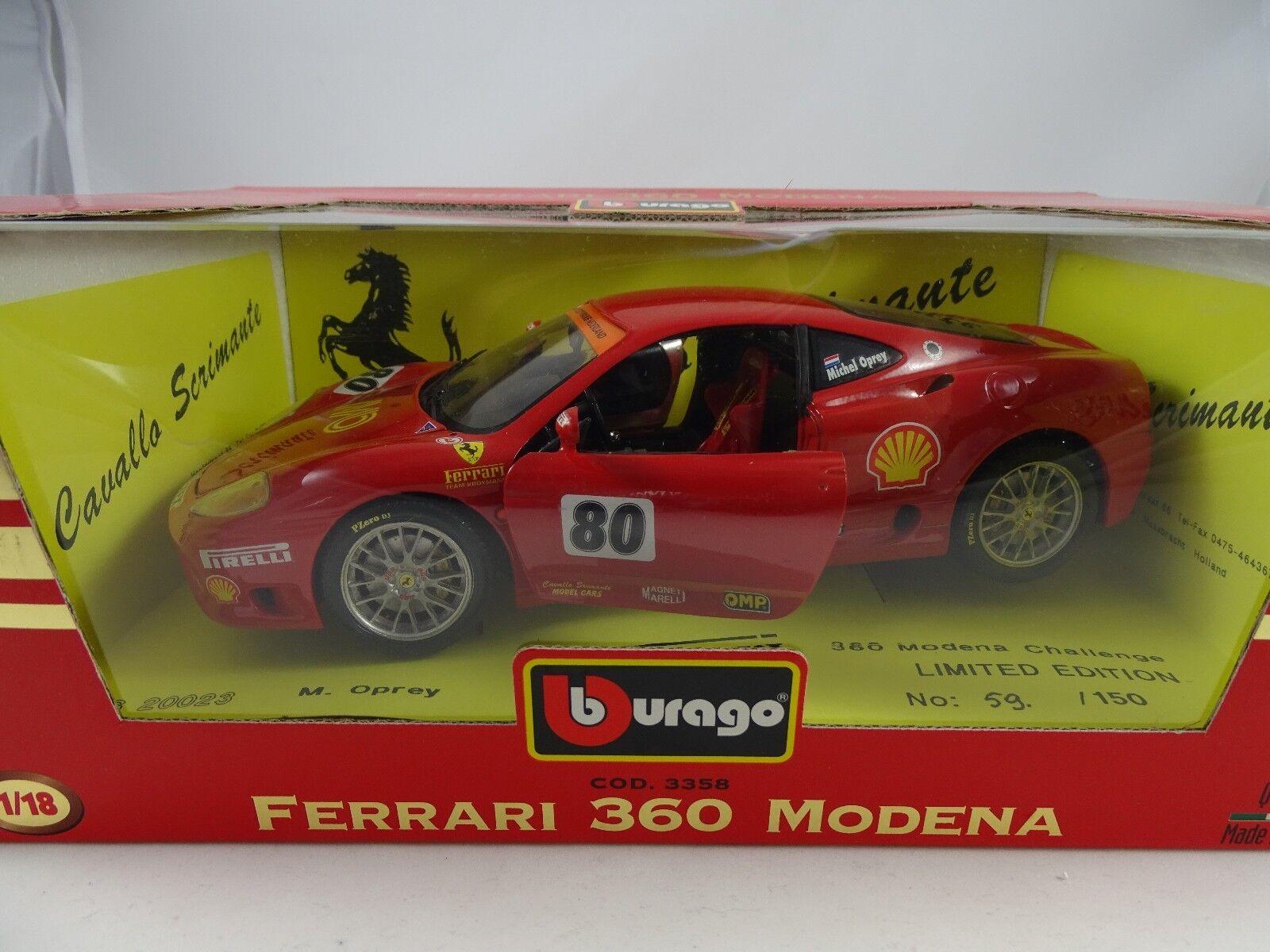 1 18 Bburago  3358 ferrari 360 Modena oprey rojo limitado a solo 150 St. mundo §
