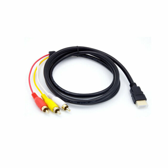 Hdmi Male To 3 Rca Video Audio Converter Component Av