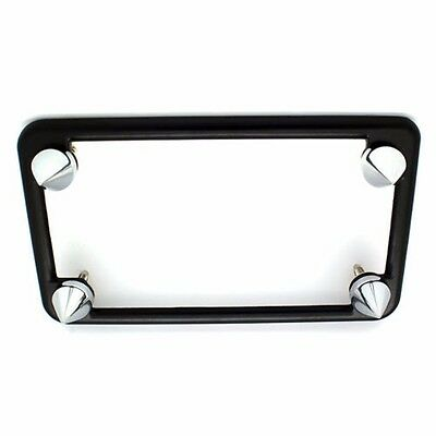 SPIKE LICENSE PLATE FRAME BOLTS MOTORCYCLE BULLET TAG FASTENER 4 CHROME