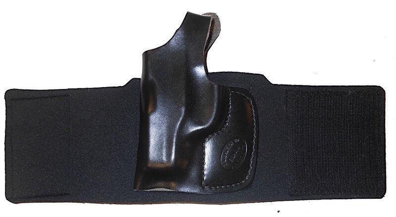 Ajuste hecho a mano de cuero y de Piel De Cordero Funda De Tobillo Marrón diestros derecho PK380 láser de fábrica