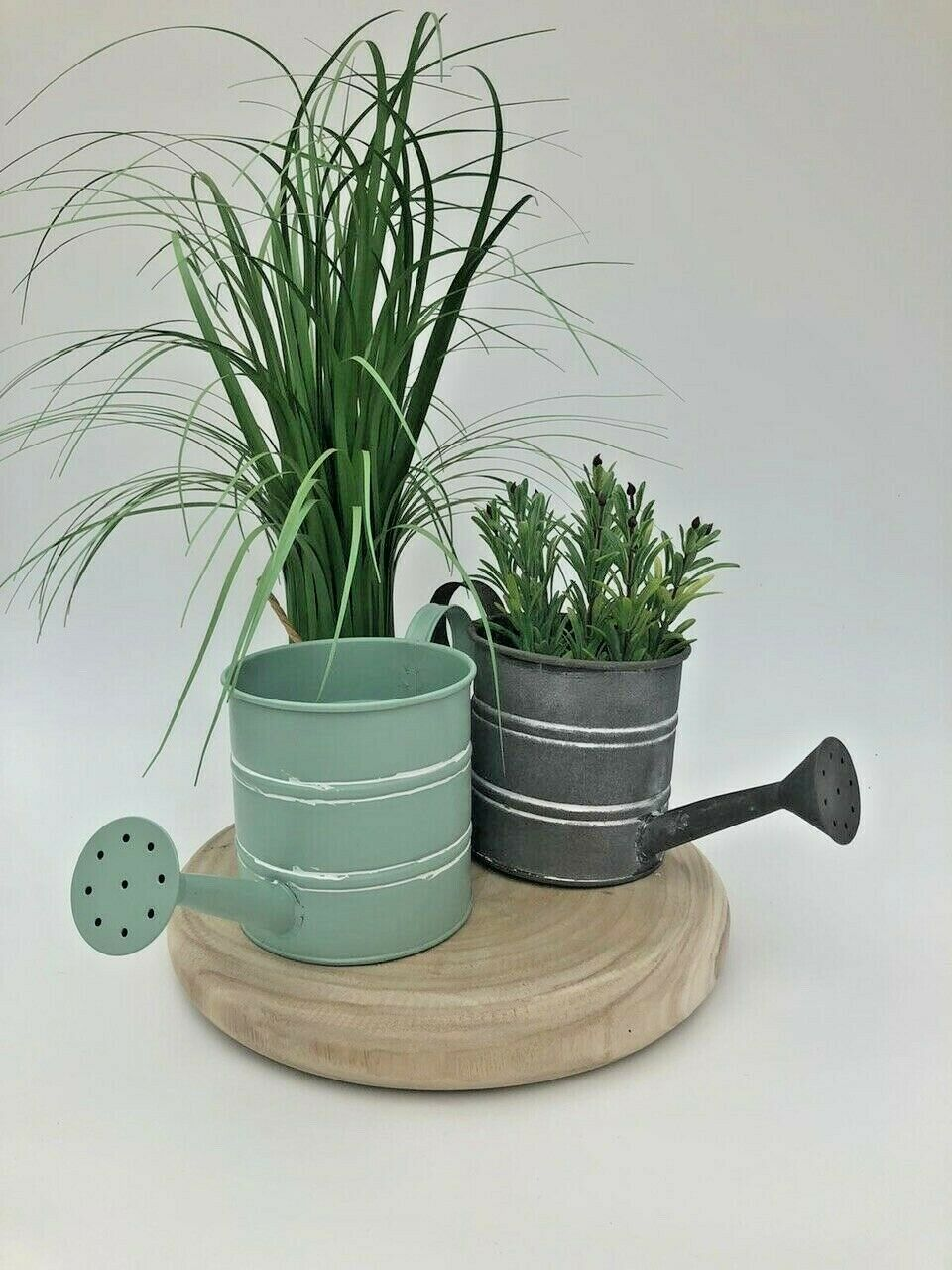 Small Decorative Metal Watering Can Garden Planter Pot Vintage Shabby Style