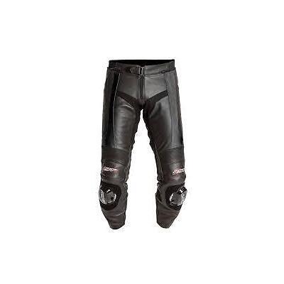 RST Blade Leather Motorcycle Motorbike Trousers Black Regular Short & Long leg