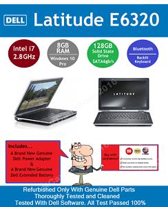 DELL-LATITUDE-E6320-Intel-i7-128GB-SSD-8GB-RAM-Win10-Pro-Backlit-Keyboard-BT-4-0