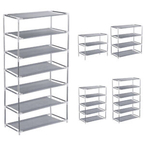 3-4-5-6-7-Tier-Metal-Shoe-Rack-Stand-Shelf-Organizer-Storage-9-12-15-18-21-Pairs