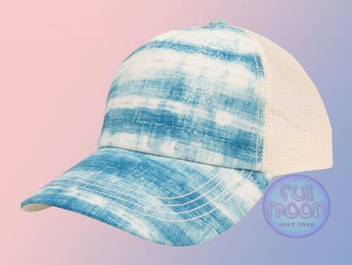New Billabong Tropical Daydream Womens Trucker Blue Snapback Cap Hat