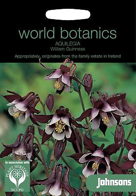 2019 Mode Johnsons World Botanics Flower - Aquilegia William Guinness - 75 Seeds