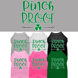 Pinch-Proof-Dog-Shirt-Pet-Clothing-Apparel-St-Patrick-039-s-Day