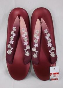 草履 Geta - Zori - Chaussures Japonaises - Japon - Pointure Fr 34 35 #153 Brillant En Couleur