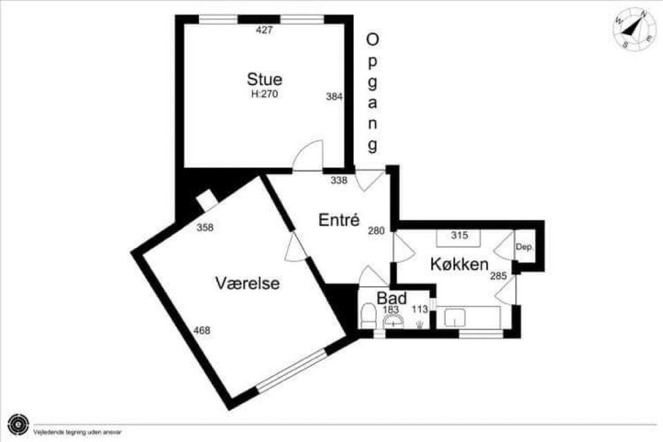 2 vær. andelslejlighed, 64 m2, Kærvang 5 st