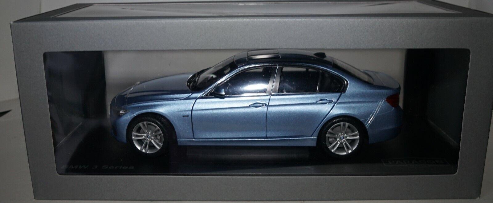 Paragon PA-97026 BMW 3er (F30) 2012 bleu métallisé, modèle de voiture 1 18