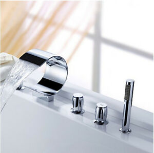 faucets see more curve shape waterfall bathtub faucet deck moun