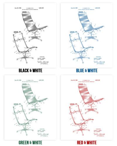 Aeron Chair Poster Print Boss Chair Businessman Gift Cubicle Art Office Decor