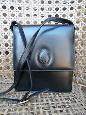CARTIER Leather Shoulder Bag Crossbody Black VintagE  MUST DE CARTIER Authentic