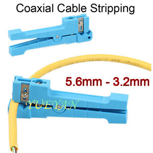 Coaxial Wire Cutter Cable Stripper Pliers Fiber Optic Jacket Slitter Hand Tool