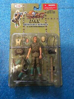 21st Ultimate Soldier 1//18 DAK Artillery Crewman Lt Karl-Peter Erdmann