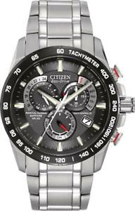 Citizen-Men-039-s-Eco-Drive-Perpetual-Chorno-A-T-Stainless-Steel-Watch-AT4008-51E