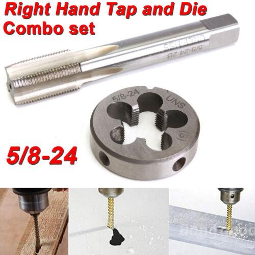 5//8-24 UNEF Hand Tap /& Round Die Set HSS Right Hand Tapping Hand Cutting