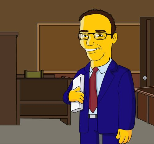 Funny Lawyer Gift Cartoon Simpsonized Portrait Yellow Character From Your Photo
