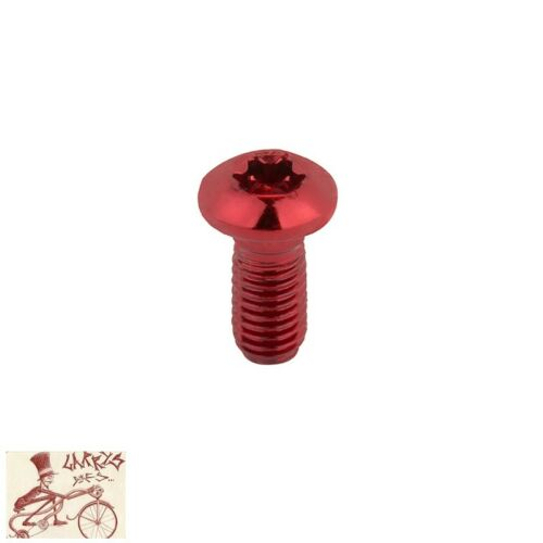CLARKS TORX M5 X 10 ANODIZED RED ROTOR BOLTS--SET OF 6