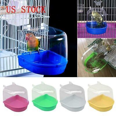 Bird Water Bath Tub For Pet Bird Cage Hanging Bowl Parrots