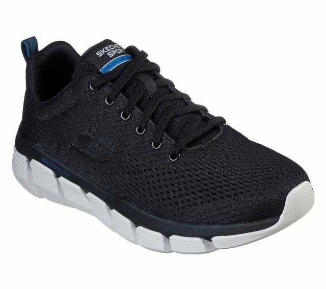 Skechers Black Shoes Men's Memory Foam Mesh Sport Athletic Casual Comfort 52857