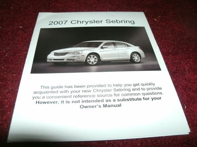 Diagram  Chrysler Sebring 2007 Fuse Manual Full Version Hd Quality Fuse Manual