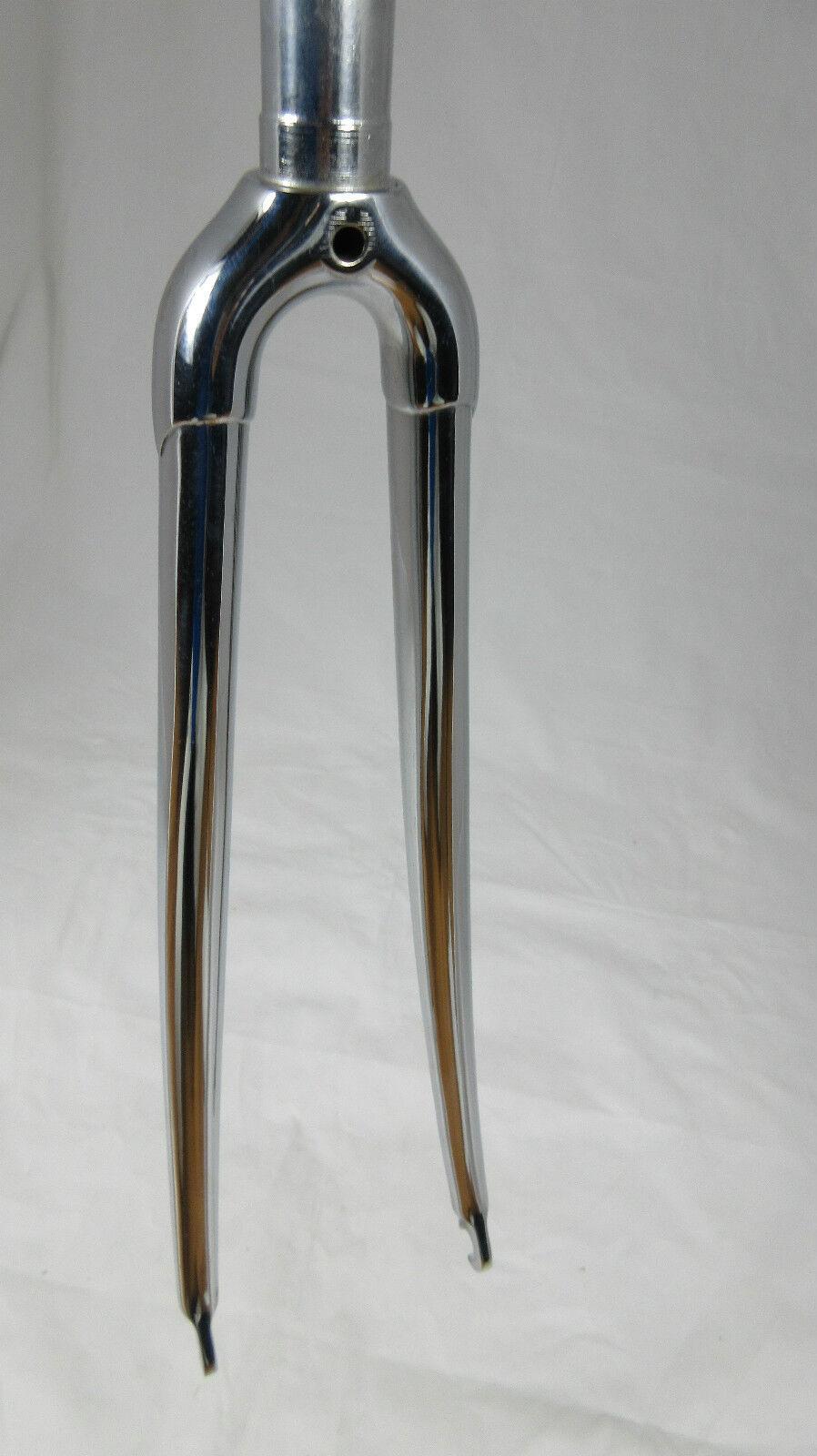 VGC Vintage chromed steel 1  threaded  Road Fork, 700c, 132mm, Columbus  online store