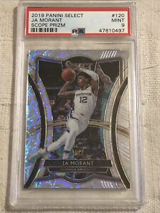 2019-Panini-Select-Ja-Morant-Scope-Prizm-Psa-9-Pop-14-Only-5-Higher-Very-Rare