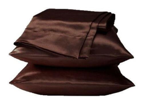 58*70cm Soft Silk Satin Bedroom Sofa Pillow Cases Bed Cushion Cover Pillowcase