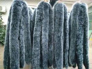 Real-Black-amp-White-Fox-Fur-Collar-Fur-Hood-Trimming-Scarf-70-10cm-27-6X3-9-034-US