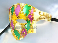 Masquerade Ball Phantom Mask Halloween Dress Up Costume Burlesque Dance Party