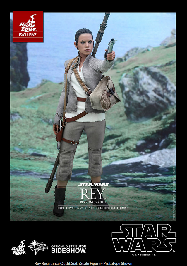 STAR WARS HOT TOYS TOYS TOYS REY RESISTANCE OUTFIT 1:6 SCALE EXCLUSIVE FIGURE HOTMMS377 928322