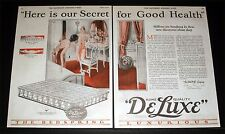 1926 OLD MAGAZINE PRINT AD, ROME BEDSPRING, SECRET FOR GOOD HEALTH, TAUCKE ART!