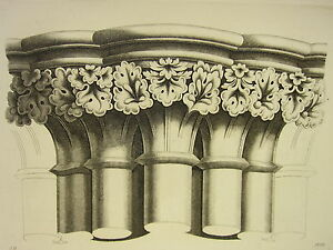 Architectural & Garden Other Architectural Antiques Adroit 1795 Print Gothic Ornament York Minster ~ Capital West Aisle North Transept