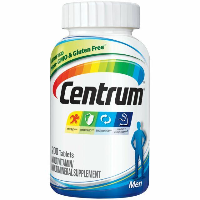 Centrum Men 200ct Multivitamin Multimineral Supplement Tablet EXP 04/2020