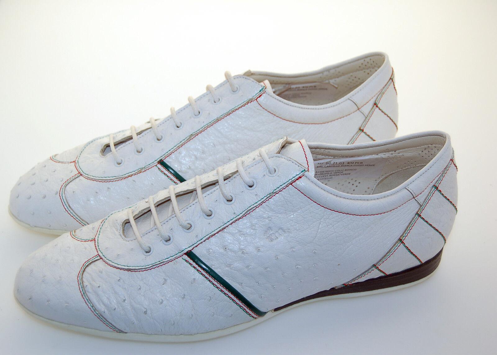 MAN scarpe da ginnastica - 8eu - - - 42 - bianca OSTRICH - STRUZZO BIANCO - RUB. SOLE - F.DO GOMMA | Lascia che i nostri beni escano nel mondo  | Uomini/Donna Scarpa  b8e7f8
