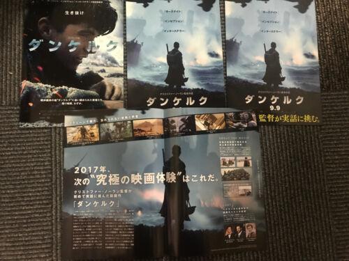 DUNKIRK Japan flyer x4 Christopher NOLAN Fionn WHITEHEAD Harry STYLES Tom HARDY