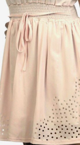 Sommerkleid weiß+Rosa Summer Minidress Ärmellos Beachdress Minikleid Superleicht