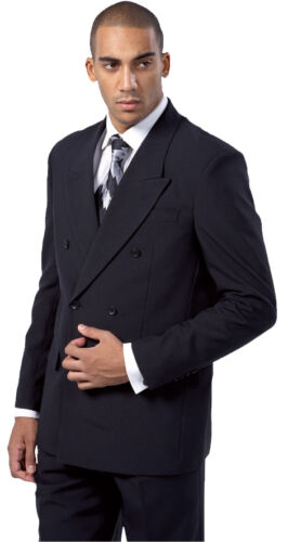 Men/'s Polyester With Rayon Double Breasted button suit  by Fortion Landi 5901